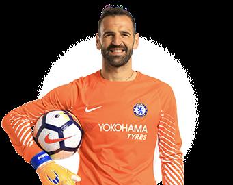 Chelsea FC goalkeeper Eduardo