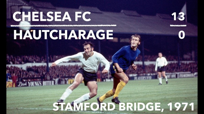 Chelsea FC Biggest win ever European cup tie 1971