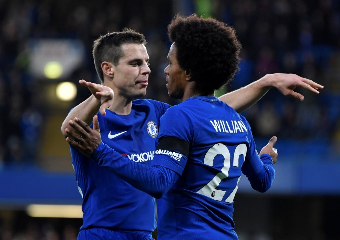 Chelsea FC Players List Eden Hazard Willian Cesar Azpilicueta Antonio Rudiger David Luiz