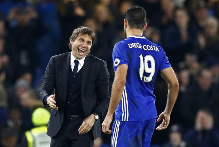 Conte Diego Costa Chelsea FC biggest win- Chelsea records-Chelsea 13 wins in a row 201617 season