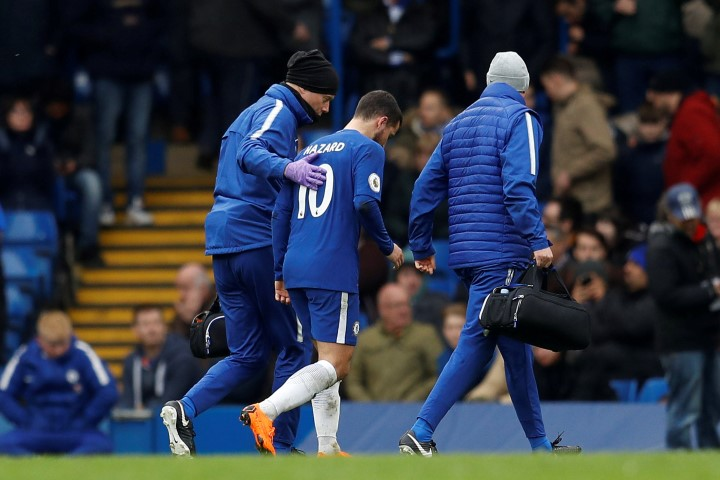 Chelsea FC shortest players 2018 Eden Hazard injured
