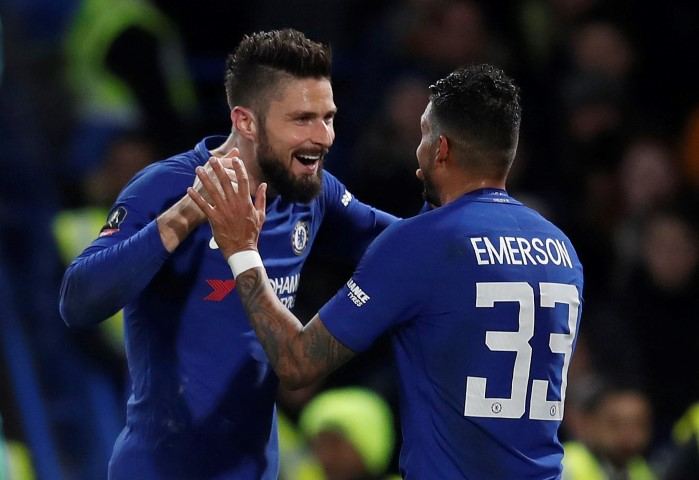 Chelsea FC shortest players 2018 Emerson Olivier Giroud Eden Hazard