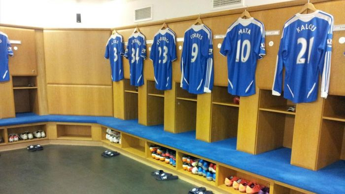 Chelsea changing room