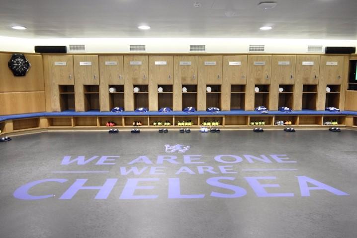 Chelsea dressing room Stamford Bridge 2018