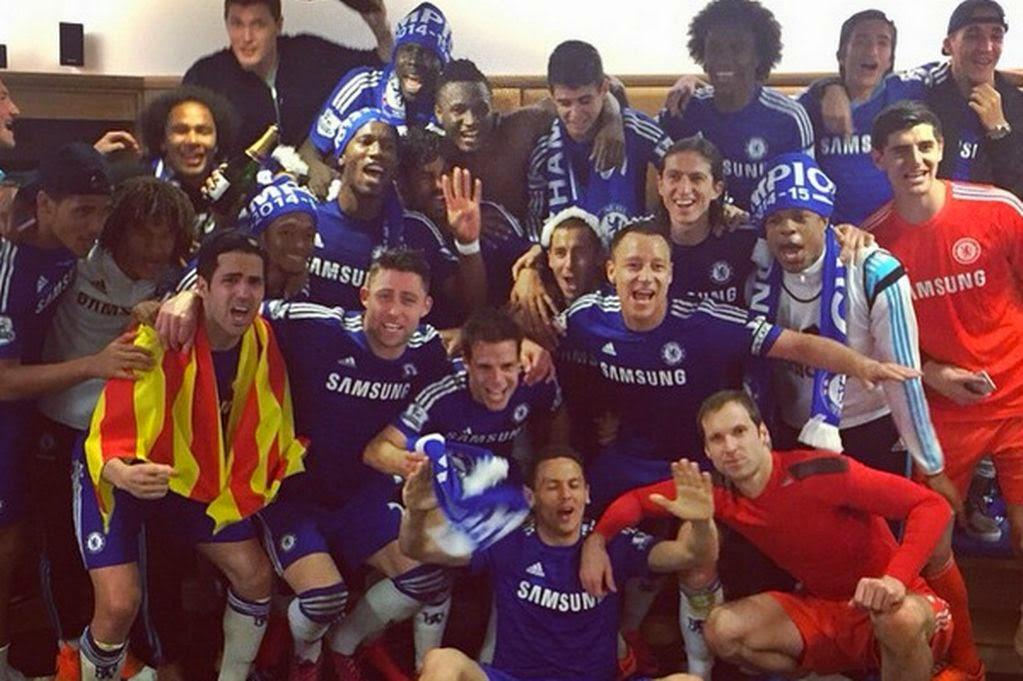 Chelsea dressing room celebrations Champions League