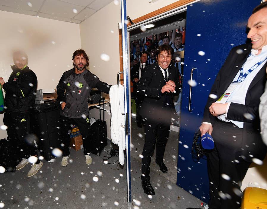 Chelsea dressing room celebrations Premier League