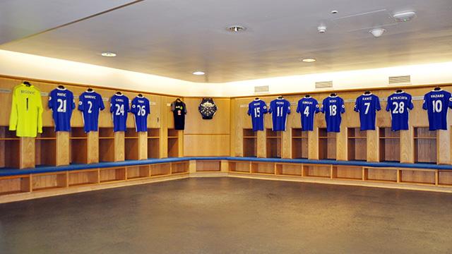 Chelsea dressing room