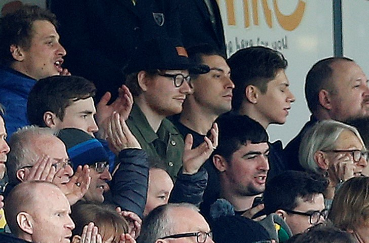 Ed Sheeran is one of the Famous Chelsea fans who support The Blues