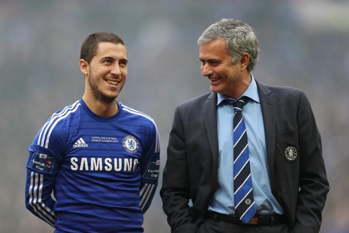 Eden Hazard pic in Chelsea Jose Mourinho