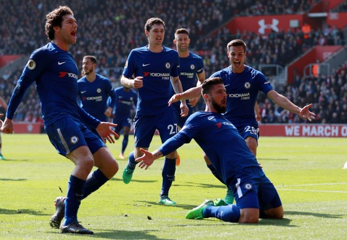 Oliver Giroud delighted after scoring his first goal for Chelsea