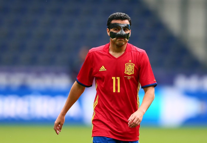 Pedro pictures face mask Spain