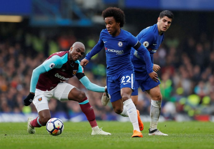 Willian is one of the Top five fastest Chelsea players in 2018