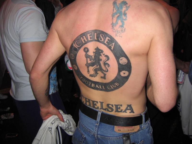 Chelsea FC tattoo back