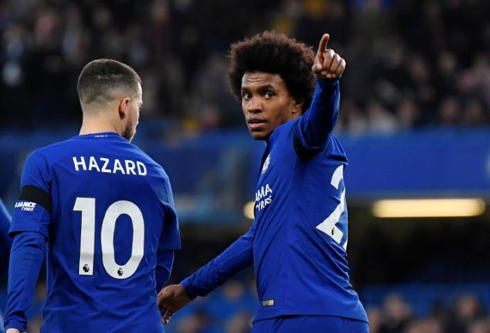 big sale 23f53 5c584 Chelsea FC top scorer this season Willian Eden Hazard ...