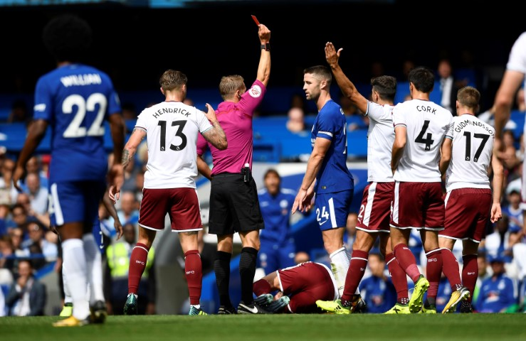 Chelsea games with the most red cards Chelsea Burnley