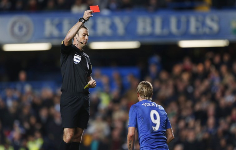 Chelsea games with the most red cards