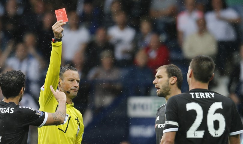 Chelsea player with the most red cards in Premier League history John Terry most red cards