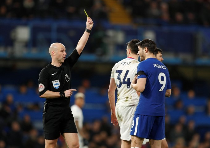 Chelsea player with the most yellow cards this season Alvaro Morata