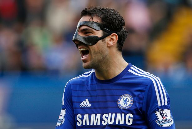 Chelsea players with mask - Diego Costa face mask