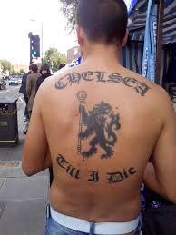 Chelsea till I die tattoo