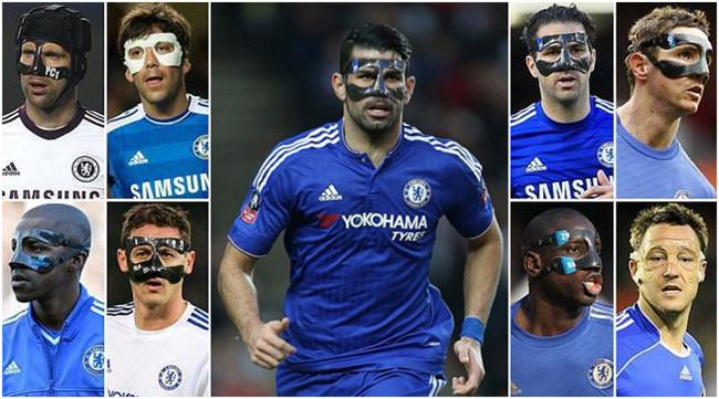 Diego Costa mask - Chelsea players with face mask