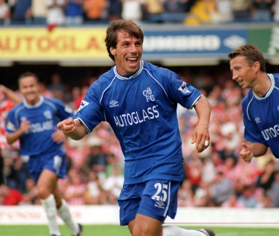 Gianfranco Zola is one of the best Chelsea midfielders ever