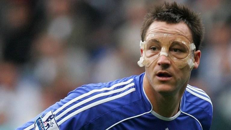 John Terry mask - Chelsea players with face mask