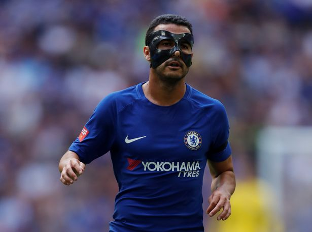 Pedro mask - Chelsea players with face mask