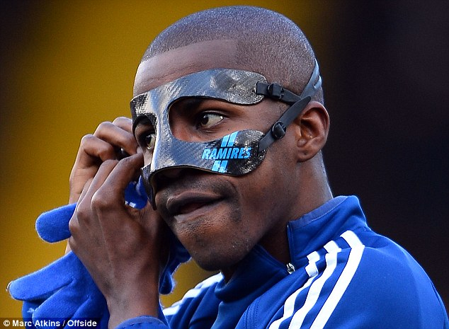 Ramires mask - Chelsea players with face mask
