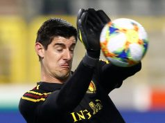courtois sending off