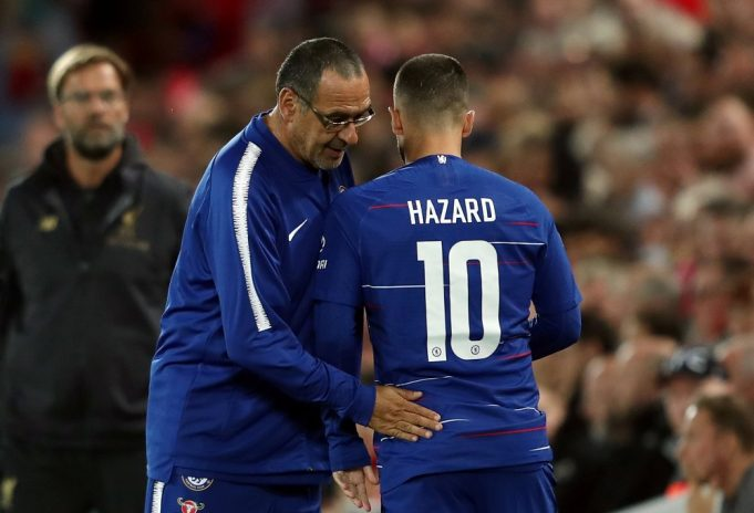 Maurizio Sarri issues challenge to Eden Hazard ahead of Liverpool clash