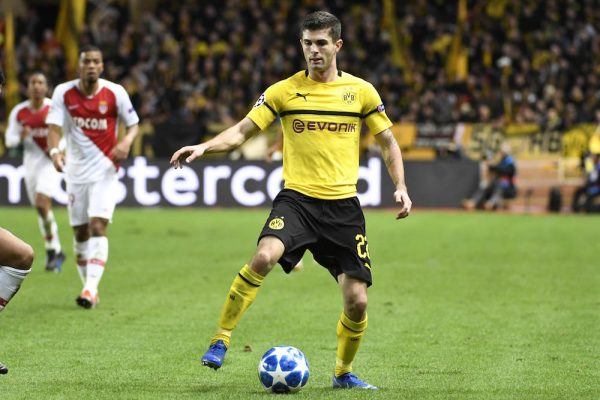 Chelsea FC player Christian Pulisic on loan at Dortmund