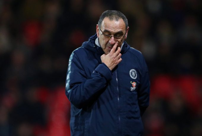 Sarri reveals reason why he spoke to his players alone for 40 minutes