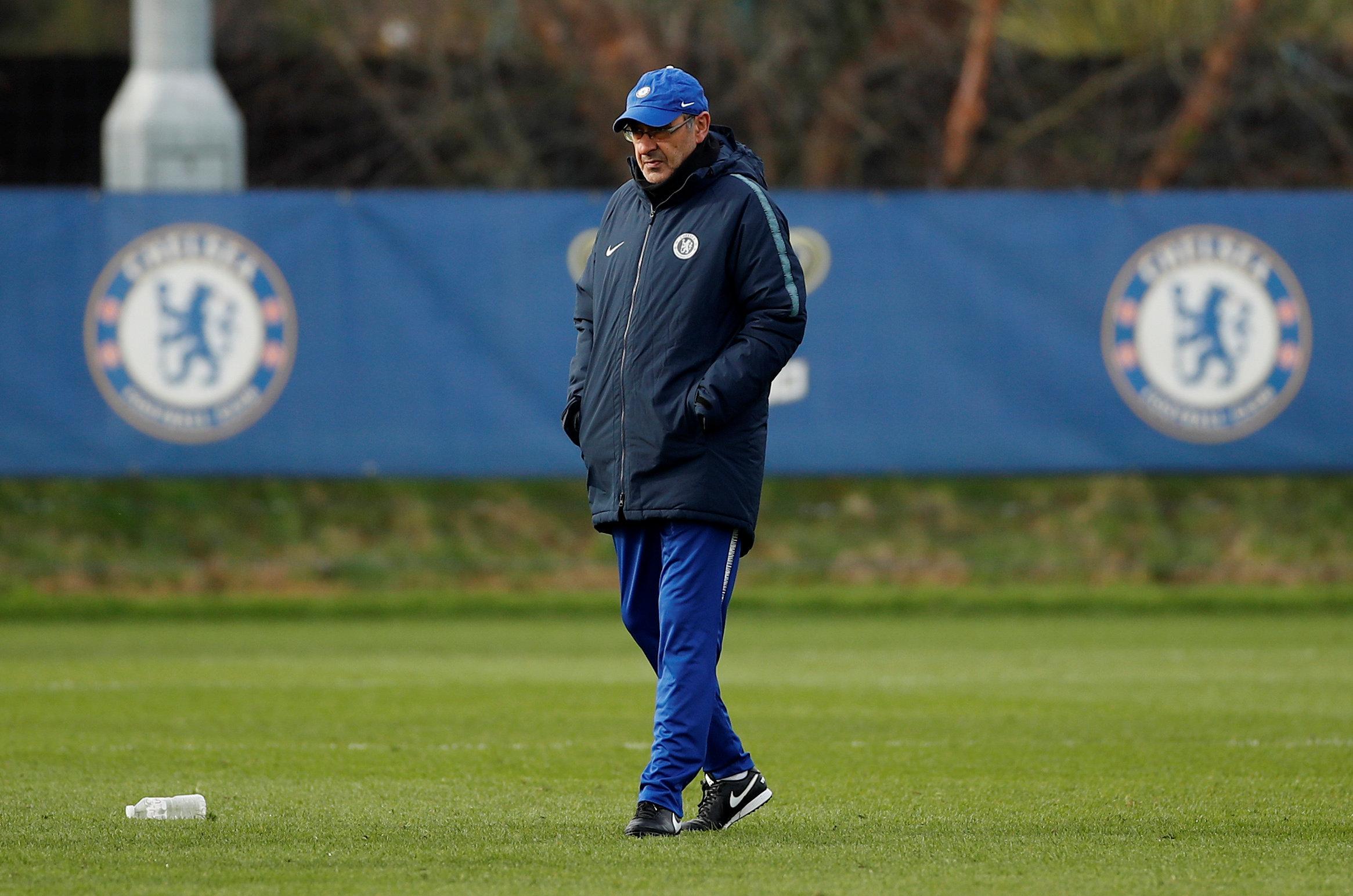 Chelsea managers list Maurizio Sarri