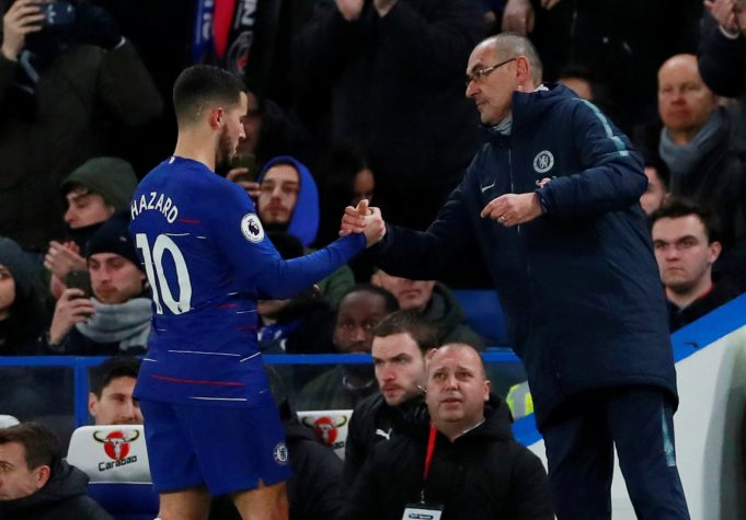 Eden Hazard Believes Maurizio Sarri's Style Suites Him More Than Jose Mourinho