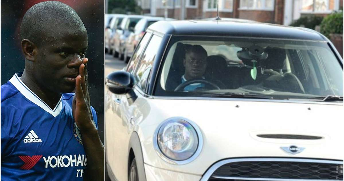 Kante drives a mini-cooper