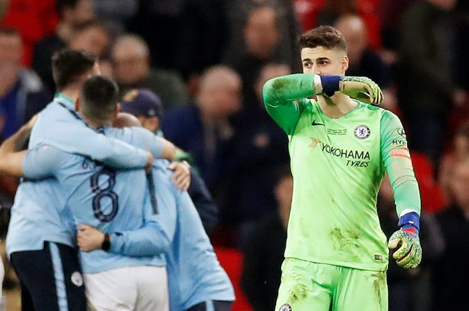 Kepa Arrizabalaga Fined For His Confrontation With Maurizio Sarri In The Carabao Cup Final