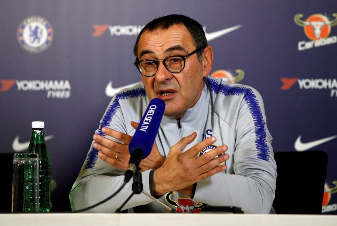 Sarri discusses his system and football in England