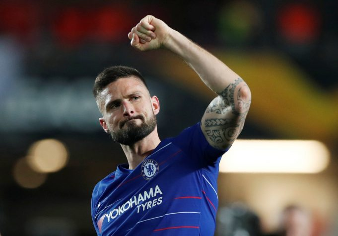 Giroud frustrated at Chelsea