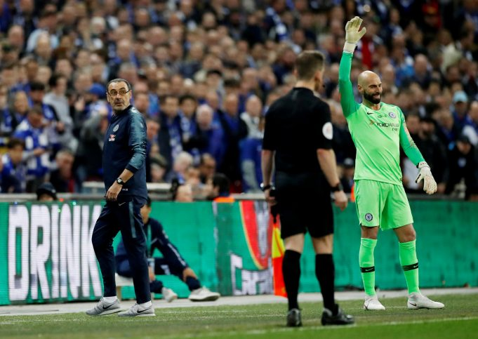 Chelsea Keeper Admits He Was Wrong To Defy Maurizio Sarri In The Carabao Cup Final