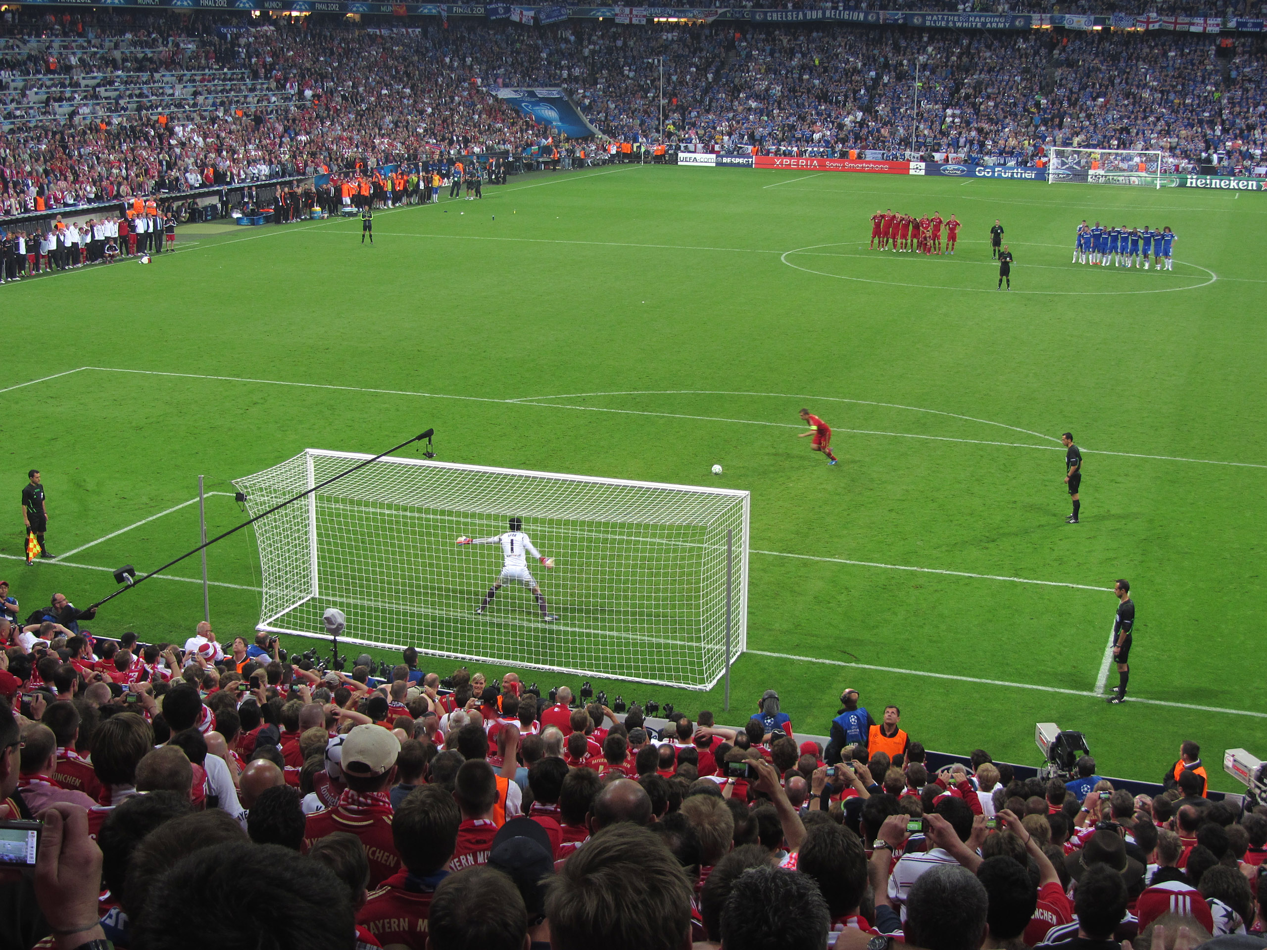 Tense times for Chelsea as the 2012 final goes to penalties in Munich