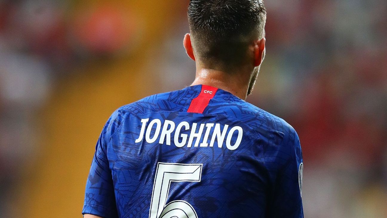 Chelsea misspells name of Jorginho on kit
