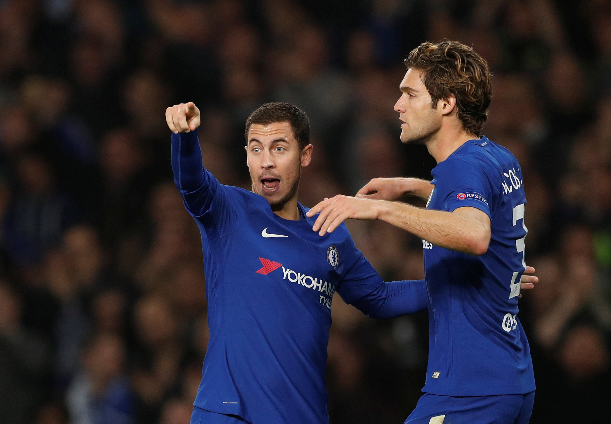Eden Hazard urges Real Madrid to take former Chelsea teammate Marcos Alonso