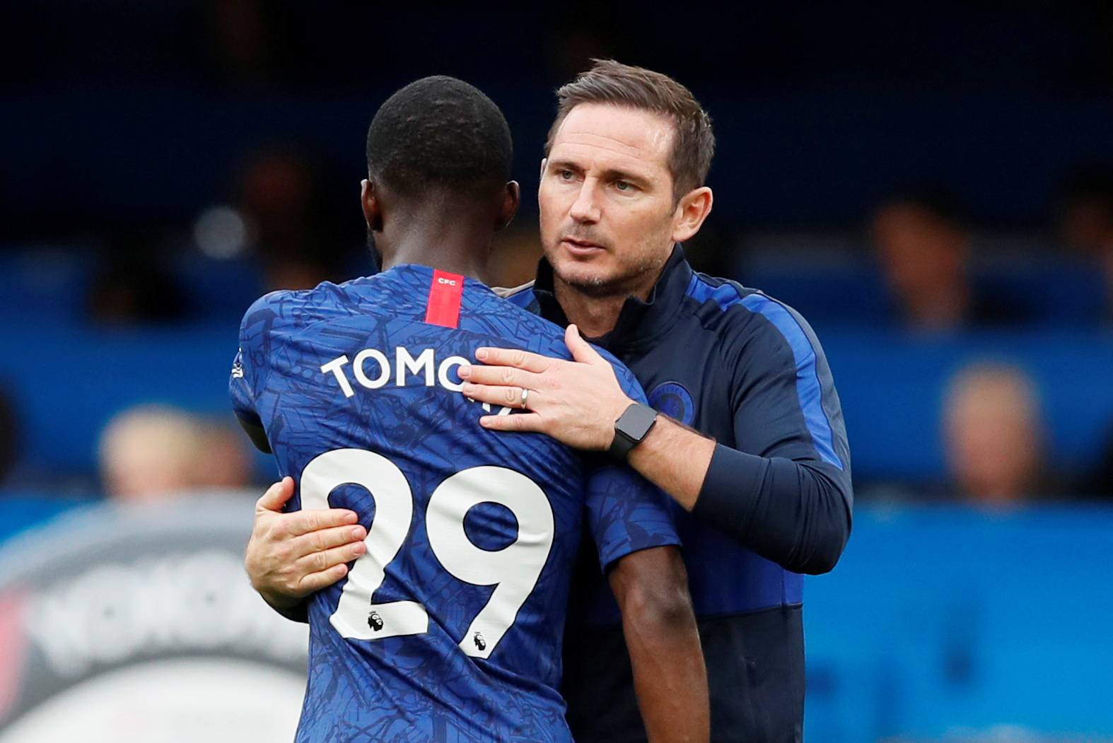 Frank Lampard talks about talks about Tomori