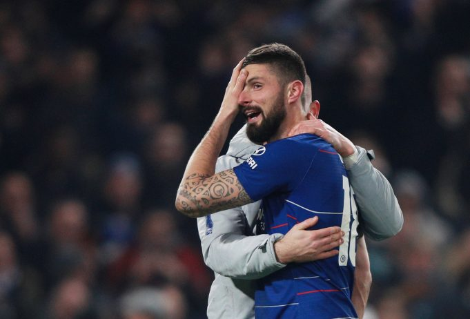 Oliver Giroud wanting to make an exit from Chelsea very soon