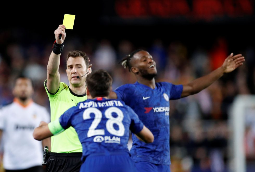 Chelsea games with the most Yellow Cards