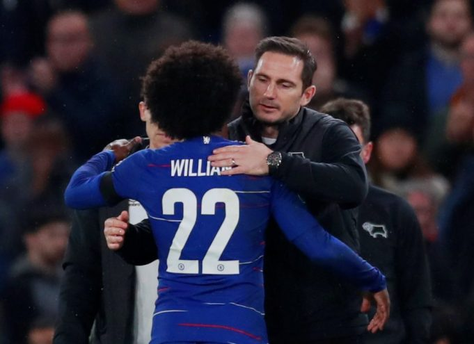 Lampard Wants Chelsea To Sign Long-Term Contract With Willian
