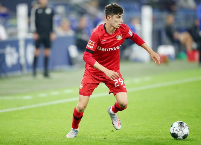 Kai Havertz trains with his new teammates for the first time