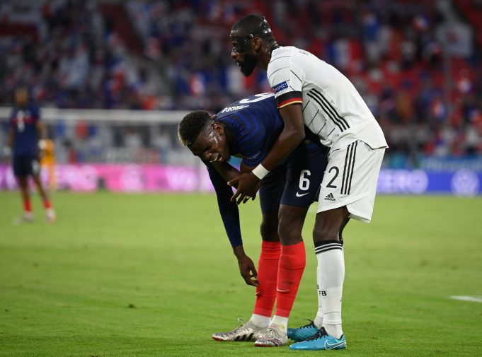 Antonio Rudiger responds to Paul Pogba biting incident